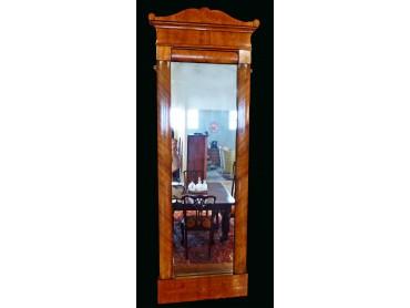 Espejo  Antiguo Biedermeier con Marquetería