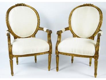 Sillones Antiguos Luis XVI - Siglo XVIII