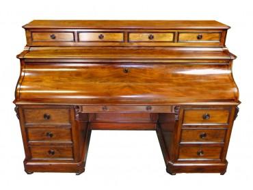 Gran Bureau Frances con Tapa de Piano de Doble Acción - Siglo XIX