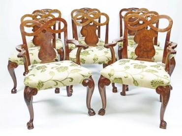 Conjunto de Sillas de Comedor Grandes estilo Jorge II