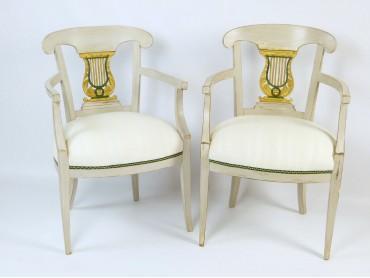 Butacas Antiguas Biedermeier Suecas - Siglo XIX
