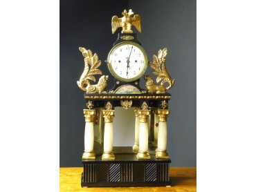 Reloj Biedermeier de Sobremesa con Caja de Musica