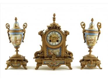 Reloj de Sobremesa Frances con Guarnición