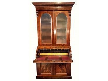 Librería Antigua con Bureau de Tapa Cilíndrica