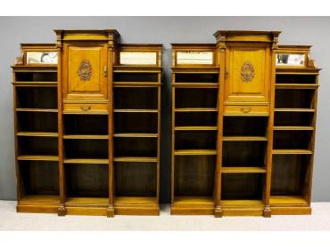Pareja de Librerías Siglo XIX -  W.Walker, Londres