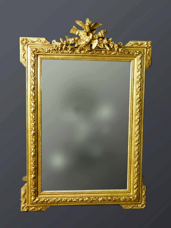 Espejos antiguos espejos antiguos espejo frances dorado sxix for Espejos decorativos dorados