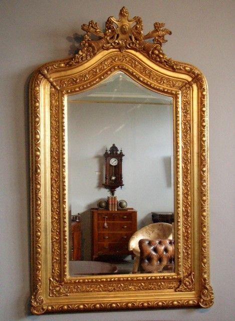 Espejos dorados abitare decoracin tienda de decoracin for Espejos ovalados grandes
