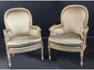 French Pair of Armchairs - Louis XVI style